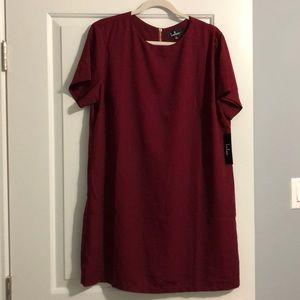 Lulus red wine swing dress
